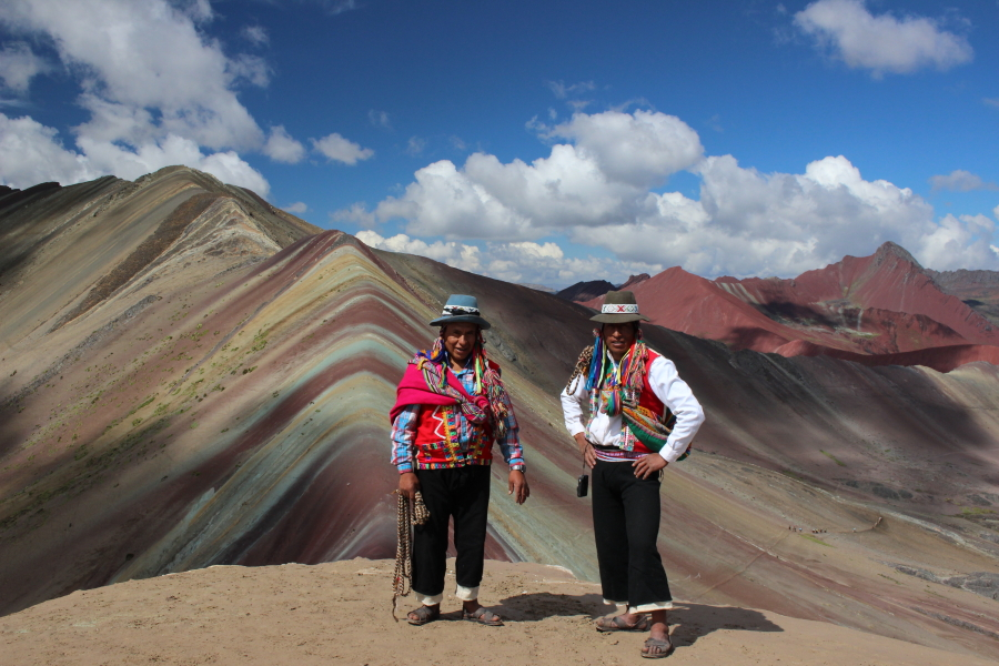 Rainbow mountain. Points of interest Peru